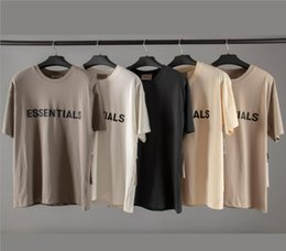 camisas de niebla Rebajas Fear Of God Essentials 3D Silicon Tee 20ss Ins Hot Spring Summer Hip Hop Skateboard T Shirt Fog Hombres Mujeres Camiseta de manga corta Casual