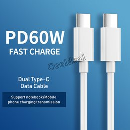 Laptop mais rápido on-line-60W Fast Charge Cables USB C Type-C Adapter Datas Cable for Smartphones Tablets Laptops HuaWei Samsung Phone Faster Data Tranmission