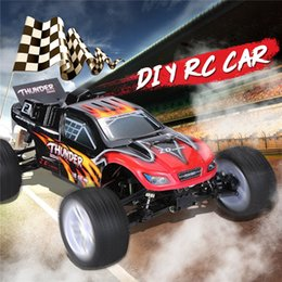 2021 diy радио комплекты ZD 9104 Thunder ZTX-10 RC Car 1:10 DIY Car Kit 2.4G 4WD Radio Control Car Arr дистанционного управления игрушками без электронных частей 210322