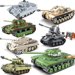 réservoirs m4 Promotion WW2 Militaire TIGER TIGER TIGER IV allemand 131 SOVIET KV-2 AMERIQUE M4 World Warm Blocs de construction Figure Jouet