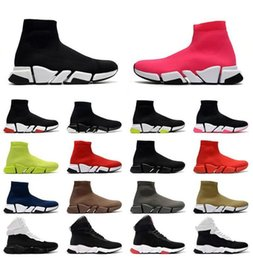 Botas baixas on-line-Chegada Plataforma Sock Shoes Designer Casual Flat Paris 2.0 Bottoms Hollow Sneakers Locais Mens Mulheres Luxury Socks Botas
