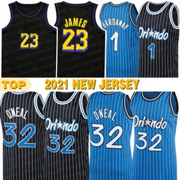 camisa de basquete 32 Desconto 2021 mens jerseys de basquete onealing hardwaying mcgradying # 1 oneal # 32