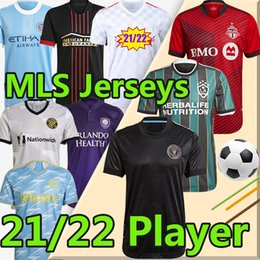 camisa de la ciudad  Rebajas MLS 21/22 Camiseta de Fútbol LA Galaxy soccer jerseys Versión Jugador 2021 2022 Atlanta United Sporting Kansas City Inter Miami New York City Toronto Camisetas de Fútbol