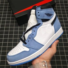 2021 zapatos retro hombres  Sombra Universidad Azul 1 High OG Retro Deportes Sports Sneakers Mens ncance 1S Trainers de obsidiana Zapatos de patineta