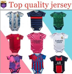 Pullover ragazza online-L'ultima Spagna Argentina Baby Jersey 2021 Real Madrid Baby Football Jersey 2020-2021 6-18 Baby Girl Mesi Camicia da calcio