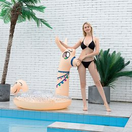 barche da piscina Sconti Gonfiabile Creativo Alpaca Mount PVC Bed Adulto Bloating Chair Showing Ring Lifebuoy per godersi il divertimento estivo