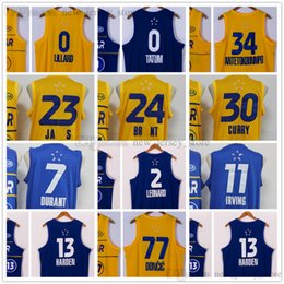 Camisas de basquete estrela on-line-2021 All-Star Basketball Lebron 23 James 13 Harden Jerseys 34 Giannis Luka Antetokounmpo Doncic Kyrie Kevin Irving Durant Kawhi Stephen Leonard Curry Jersey