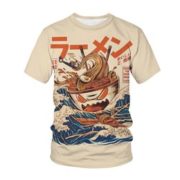 3d drachen t-shirts Rabatt Sommer neues T-Shirt Food Monster Top Sushi Dragon 3D Druck Männer Frauen Streetwear Mode T-Shirt Teenage Harajuku Kaiju Tees Topsoccer Jersey