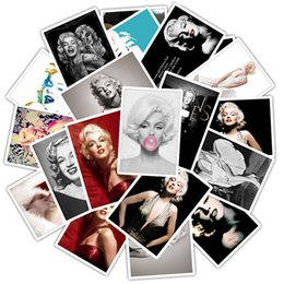 2021 autocollants marilyn monroe 25pcs Marilyn Monroe Sticker de dessin animé imperméable à l'étanchéité pour Case Decal Sticker to DIY Ordinateur portable Moto Bagage Snowboard Voiture F4