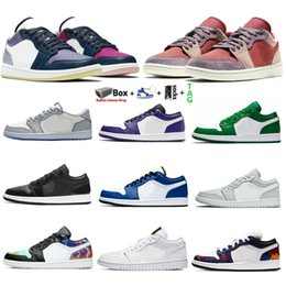 espadrilles camo femmes Promotion Air Jordan 1 low Jumpman Basse 1 1S Basketball Chaussures Top OG Toe Noir Toe Court Purple Sp Blanc Camo Jeu Royal Shadow Men Femmes Sneakers EUR 36-46