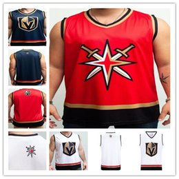 Tanques personalizados online-Custom Las Vegas Golden Knights Hockey Tank Marc-Andre Fleury William Karlsson Mark Stone Max Pacioretty Ryan Reaves Jonathan Marchessault Tuch Jersey