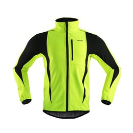 Giacca da ciclismo arsuxeo online-Arsuxeo Fall e Winter Weather Poesty Fleece Warm Tre Layer Cycling Giacca da ciclismo 15K