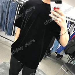 Camisas de luxo de manga curta on-line-2021 Designers Mens Womens T Shirts para Homem Paris Moda T-shirt Embarcão Letra Homens Roupa Top Qualidade Tees Rua Manga Curta Luxurys Camisetas Roupa