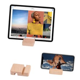 titular de ipad de madeira Desconto Creative Mobile Phone Titular Universal Slot Bracket para ipad Flat Desktop Lazy Stand Cell Mounts Suportes