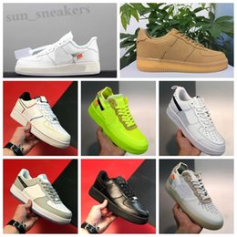 Guerreiro sapatos clássicos on-line-Force one 1 AF1 Chegadas Volt Running Shoes Mulheres Mens Trainers Forcd One Sports Skate Classic 1 Green White Black Warrior Sneakers RG08