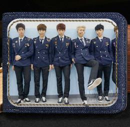 Wholesale korean fans - Fashion designer wallet Bulletproof scouts group purse Bts boy fans short cash note case Money notecase Leather burse bag Card holders