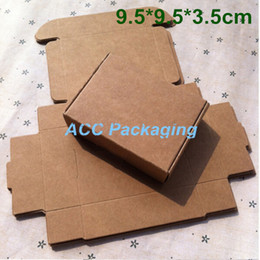 Wholesale Jewelry Packing Paper - Wholesale 100Pcs Lot 9.5*9.5*3.5cm Kraft Paper Packing Box Gift Box Soap Wedding Candy Jewelry Cake Cookies Chocolate Baking Packaging Box