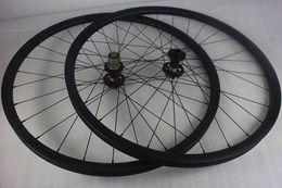 Wholesale Carbon Aero Wheelset - 29er 27mm hookless MTB XC carbon wheelset 25mm depth Novatec D771SB D772SB disc hubs Pillar 1420 aero spokes 29in beadless carbone wheels