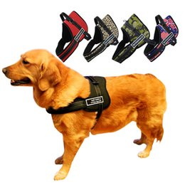 Wholesale Medium Duty - Nylon Multipurpose Service Sports Training Dog Harness Heavy Duty Husky Pitbull Black Red Camo Colors S M L Sizes