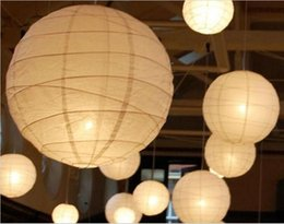 """Wholesale Led Decorative Lanterns For Weddings - 2015 New 8"""" 12"""" 15"""" White Chinese Paper Lanterns With LED Lights Beautiful Christmas Ornaments Lantern For Wedding Party Decoration Supplies"""