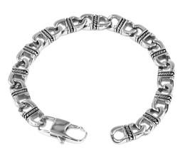 Wholesale Mens Health Bracelets - Mens Titanium Stainless Steel Health Bracelet Thai Silver Restoring Ancient Way Steel Titanium Jewelry High Quality Free Shipping