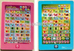 Wholesale English Ipad Toy - English IPad Touch Tablet Computer Toys,Children Study Machines,Kids Learning Toy Word Letter Shape Number Free Shipping B-101