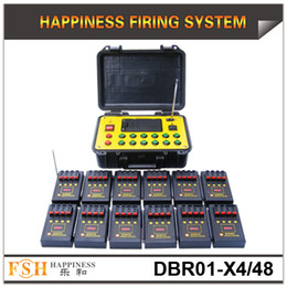 Wholesale Pyrotechnic Firing Systems - On promotion, FedEX DHL Free Shipping,48 channels pyrotechnic fire system, 500M remote control fireworks firing system(DBR01-X4 48)