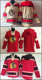 Wholesale Hooded Sweatshirt Blank - 2016 New, 2015 Free Shipp. Chicago Blackhawks Cheap Ice Hockey Jersey Hoodie Blank Hockey Hoodies  Hooded Sweatshirt