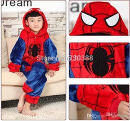 Wholesale Spiderman Onesie - Wholesale-Halloween Spiderman Spider-man Spider man Kids Children Cosplay Pajamas Anime Cosplay Boy Girl Onesie Party Costumes Gifts