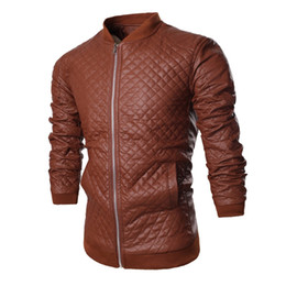 Wholesale Trench Coat Models Men - Fall-New Arrivals 2015 explosion models collar dark cell locomotive men cultivating solid color leather jacket trench coat