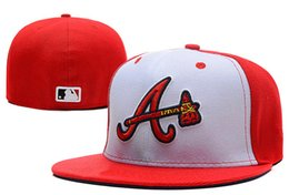 Wholesale Atlanta Caps - Free shipping MLB Atlanta Braves Snapback Medium Raised Embroidery Letter Fitted Hat Structured Classic High Crown Baseball Fit Cap