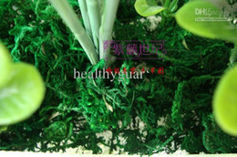 Wholesale Artificial moss Green moss decorative plants vase artificial turf silk Flower accessories for flowerpot decorations supply