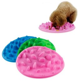 Wholesale Slow Dog Food Bowl - 10PCS Excellent Soft Silicone Jungle Dish Pet Slow Eat Feeder Dog Cat Slow Bowl Reduce Weight Anti Choke Interactive Feed Bowl