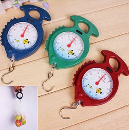 Wholesale Price Scales - Good Price 120 pcs lot 10kg Fish Shape Weighing Hanging Scale Handheld Numeral Pointer Spring Balance #1583