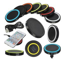 Wholesale Iphone 5s Eu Charger - Newest Qi Wireless Charger Cell phone Mini Charge Pad Qi-abled device for Samsung apple nokia htc LG S6 6 plus 5s ect