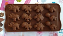 Wholesale Dinosaur Chocolate Moulds - Dinosaur type silicone cake Chocolate Mold Jelly Mold Cake Moulds Bakeware mo24