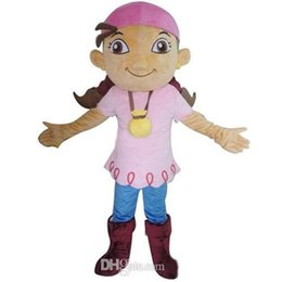 Wholesale Izzy Pirate Costume - Customized Professional Pirate Izzy Mascot Costume Festival Party Adult Sz free shipping