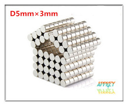 Wholesale Neodymium Fridge Magnets - 100pcs pack NdFeB D5X3mm Neodymium Disc Super Strong Rare Earth N35 Small Fridge Magnets round magnets N35 magnets