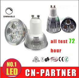 Wholesale Led Downlight Bulbs 4w - x100 High footlights CREE Led Lamp 3W 4W 5W 6W 8W 10W 12W Dimmable GU10 MR16 E27 E14 GU5.3 B22 Led Light Spotlight led bulb downlight lamps
