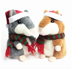 Wholesale Plush Talking - Lovely Talking Hamster Plush Toy Hot Cute Speak Talking Sound Record Hamster Toy Animal Free Shipping Wholesale