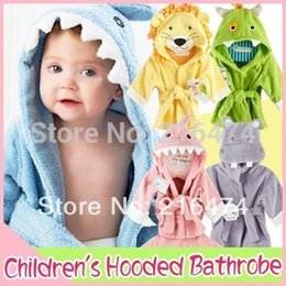 Wholesale Infant Hooded Towels - Adorable!Hooded Animal modeling Baby Bathrobe Cartoon Baby Towel  kids bath robe infant bath towels