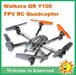 Wholesale Ufo Wifi Camera - Walkera QR Y100 FPV WIFI Version Drone Helicopters 5.8Ghz UFO Quadcopter 6-Axis With Camera IOS Android System Remote Control Phone Boy Gift