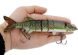 Dur Pêche Appât Treble Crochet Pêche 20 cm 66g Réaliste Pike Muskie Pêche Leurre 8-segment Swimbait Crankbait Pesca ? partir de fabricateur