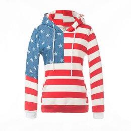 Wholesale American Apparel Xs - High Quality Women Hoodies Casual Womens Star Striped Print Hoodie ladies Tie Collar Hoodies Sweatshirt Women's American Apparel