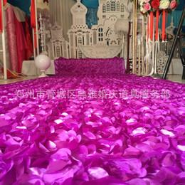 Canada 2016 Nouveau 3D Fleur De Mariage Décorations Rose Pas Cher Modeste De Mode Tapis De Mariage Vente Chaude De Mode Coloré Livraison Gratuite Élégant 1.5 M Large Offre