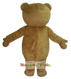 Wholesale Teddy Bear Mascots - Wholesale-New Ted Costume Teddy Bear Mascot Costume Free Shpping