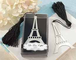 Wholesale Bookmark Tower - Wedding Favors Party Event Gift Bridal Shower The Eiffel Tower Bookmarks Tassels Creative