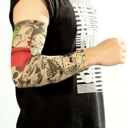 Wholesale Tattoo Fake Gloves - Wholesale- 1pcs Cool Mixed Nylon Fake Temporary Tattoo Arm Sleeves