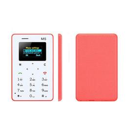 Regalo di Chirstmas 4.8 MM Ultra-sottile AEKU M5 Scheda speciale Cell Phone Chipset (MTK) Bar Schermo a colori GSM Mutilanguage da