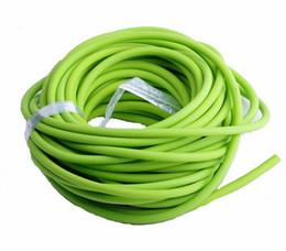 New Sporting Natural Latex Tube Slingshot 5mm * 10M Banda di ricambio di colore verde per caccia Sling Shot Catapults Gomme di gomma da tubi di fionda fornitori